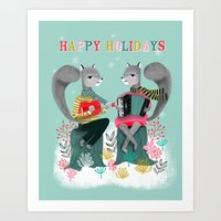 Squirrels' Christmas By … Art Print