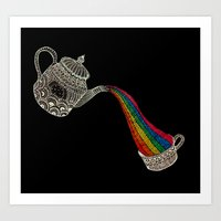 Don´t forget to have your daily rainbow dragon tea! Art Print
