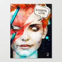 Ziggy Stardust/David Bow… Canvas Print