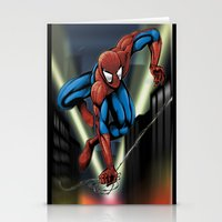 Sharp Spidey Swing Stationery Cards