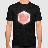 Spatial Geometry Mens Fitted Tee Tri-Black SMALL