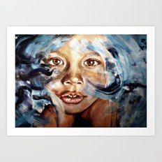 In my dreams, nothing fades away - WATERCOLOR & ACRYLIC painting Art Print