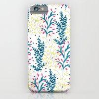 bright flowers. Illustration, pattern, flowers, floral, print,  iPhone 6 Slim Case