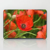 Wild Red Poppies iPad Case