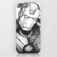iPhone & iPod Case featuring Iron Man by Caz Haggar