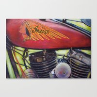 Indian Motorcycle  Canvas Print