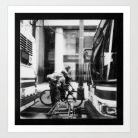 Columbus by Polaroid - Third Man ed B&W  Art Print