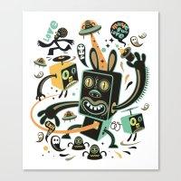 Little Black Magic Rabbi… Canvas Print