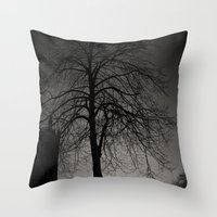 silhouette at Durham Cathedral Throw Pillow