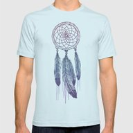 Catching Your Dreams Mens Fitted Tee Light Blue SMALL