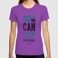 Think you can or can't Womens Fitted Tee Ultraviolet SMALL