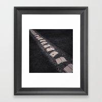 Book Path Framed Art Print