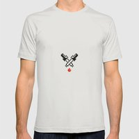 eyedropper bloody Mens Fitted Tee Silver SMALL