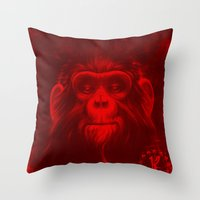 Twelfth Monkey Throw Pillow
