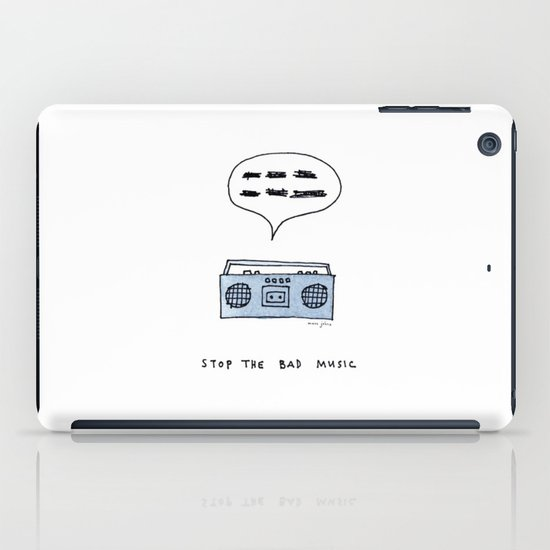 Stop the bad music iPad Case