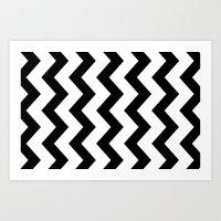 4x6 Chevron Art Print