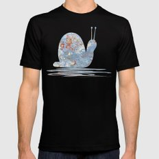 Memories of the Sea -- abstract marine paint age grunge boat nautical  Mens Fitted Tee Black SMALL