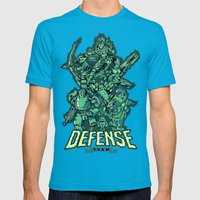 Defense Team Mens Fitted Tee Teal SMALL