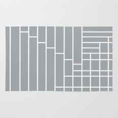 Fuzz Outline Grey Rug