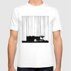 asc 536 - La mise en scène ( I'll be late tonight darling) Mens Fitted Tee White SMALL