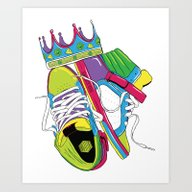 Art Print featuring King Of Kicks - Supra Im… by Zeppe