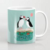 Puffins - Bird Art, Shor… Mug