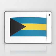 Flag of Bahamas. The slit in the paper with shadows.  Laptop & iPad Skin
