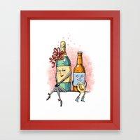 Bottled Romance Framed Art Print
