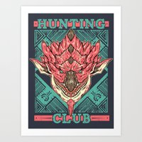 Hunting Club: Pink Rathian Art Print