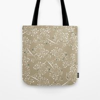 blue dot branches Tote Bag