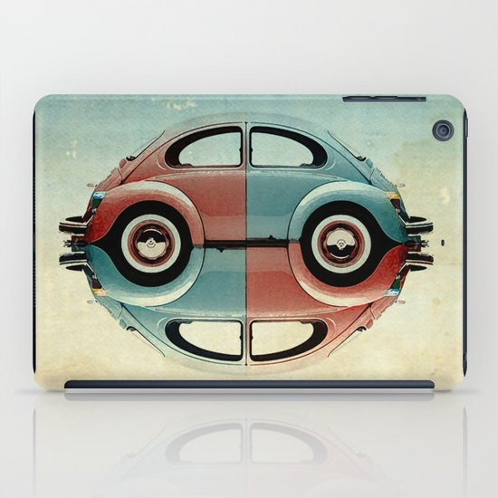 checkered 4 speed - VW beetle  iPad Case