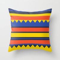 Triangles Jungle Throw Pillow