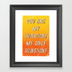 You are my Sunshine my only Sunshine- A Hell Songbook Edition Framed Art Print