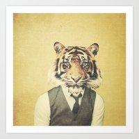 Humanimal: Tiger Art Print