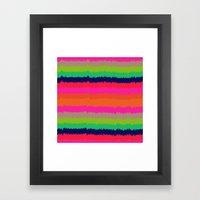 Eva stripe Framed Art Print