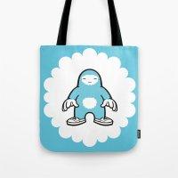blue gigant Tote Bag