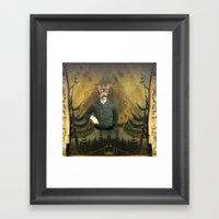 Lepidopterologist At Res… Framed Art Print