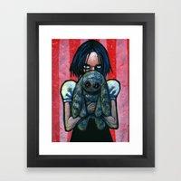 A little hug Framed Art Print