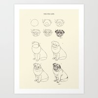 How To Draw The Pug Life… Art Print