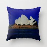 Sydney Opera Blues DPG15… Throw Pillow