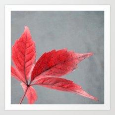 pink autumn Art Print