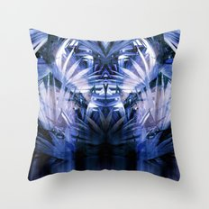 Palm With Gradient Throw Pillow