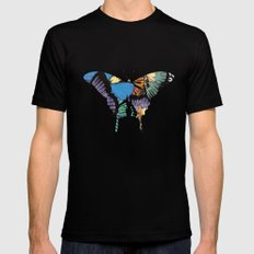 Butterflies Mens Fitted Tee Black SMALL