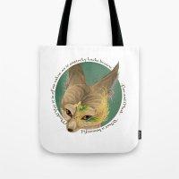 Fox And Mask  Tote Bag
