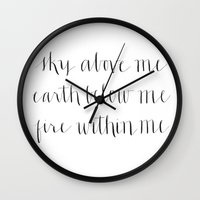 Fire Within Me Wall Clock