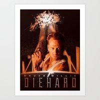 DIE HARD (1988) Art Print