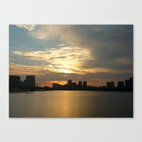 Charles River Sunrise 2 Canvas Print