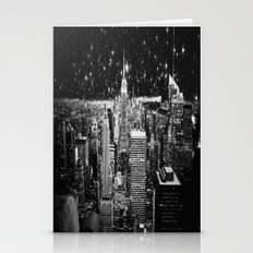 Starry Night In New York Stationery Cards