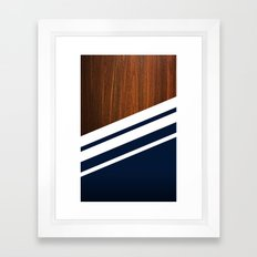 Wooden Navy Framed Art Print