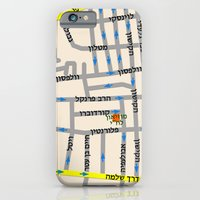 Tel Aviv Map Design - Fl… iPhone 6 Slim Case